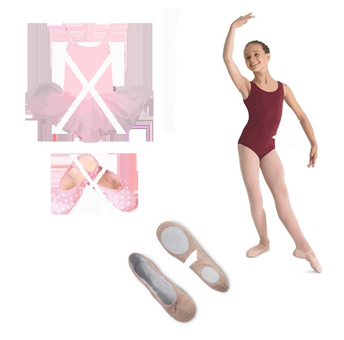 Fontos a megfelelő balett felszerelés beszerzése, ne kezdjen hozzá a balett tanár megkérdezése nélkül.